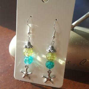 💫🌊💚Women's Starfish Statement Earrings 💎🌊🌟